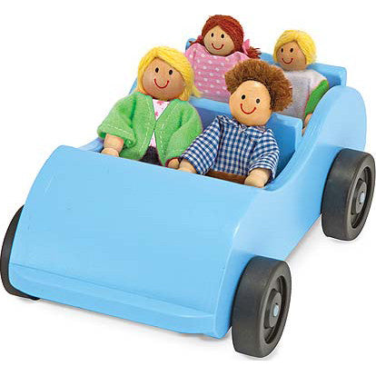 Road Trip! Wooden Car & Poseable Family