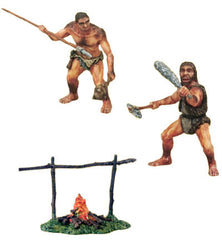 Cavemen Set with Fire (3-Pieces)