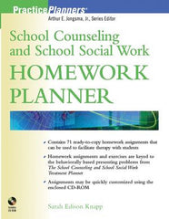 School Counseling and School Social Work Homework Planner (w/CD-ROM)