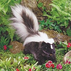 Skunk Puppet with Poseable Tail