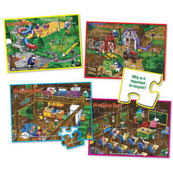 Social Learning Puzzle Games - Set of 4