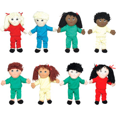 'Soft Play' Doll Package (8 Dolls w/ Removable Clothing)