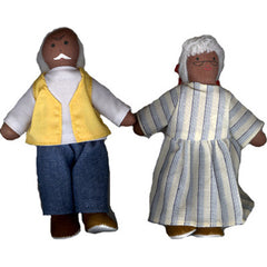 Soft 'Pose & Play' Grandparent Dolls (African-American)