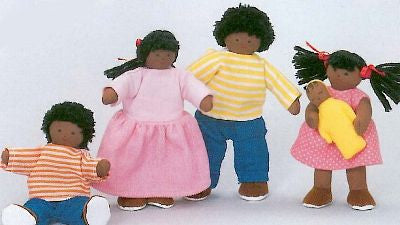 Soft 'Pose & Play' Doll Family (African-American)