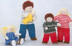 Soft 'Pose & Play' Doll Family (Caucasian)