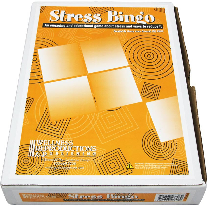 Stress Bingo Game For Adults