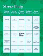 Stress Bingo For Teens