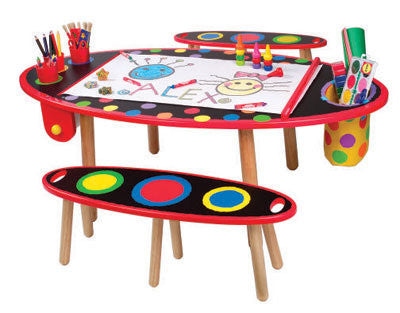 Super Art Table & Bench Set (w/ Paper Roll)