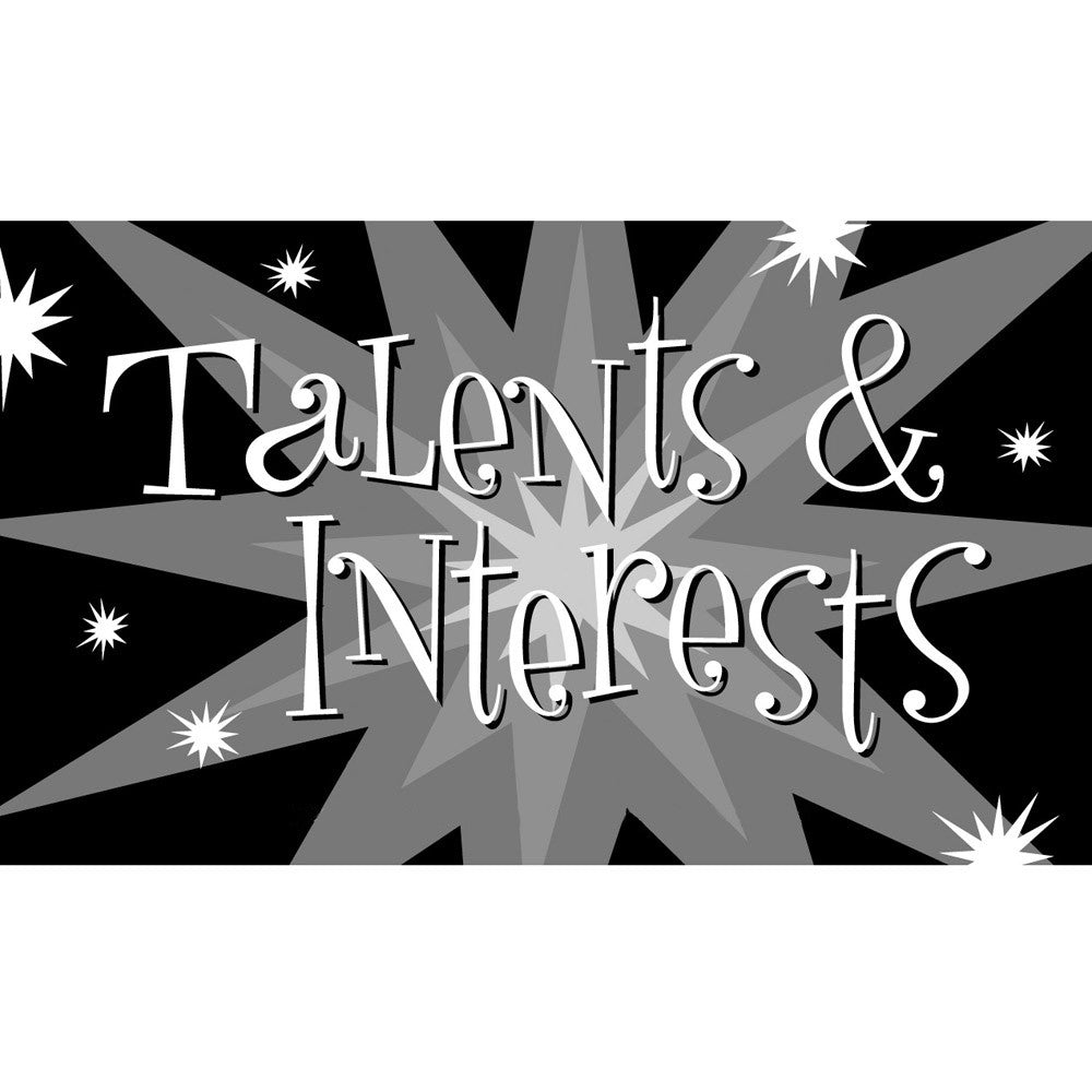 Talents & Interests Cards (High School Version)