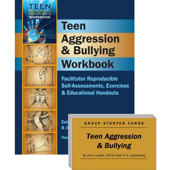 Teen Aggression & Bullying Set (Workbook & Group Starter Cards)