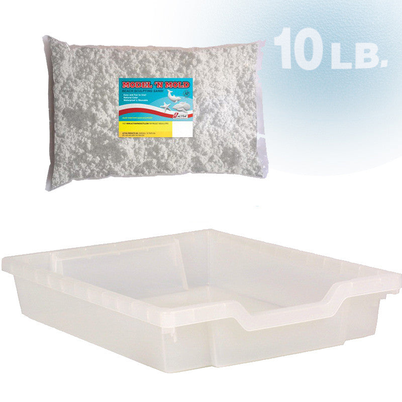 Stackable SENSORY Tray and 10 lbs. of MODEL 'N MOLD Sand
