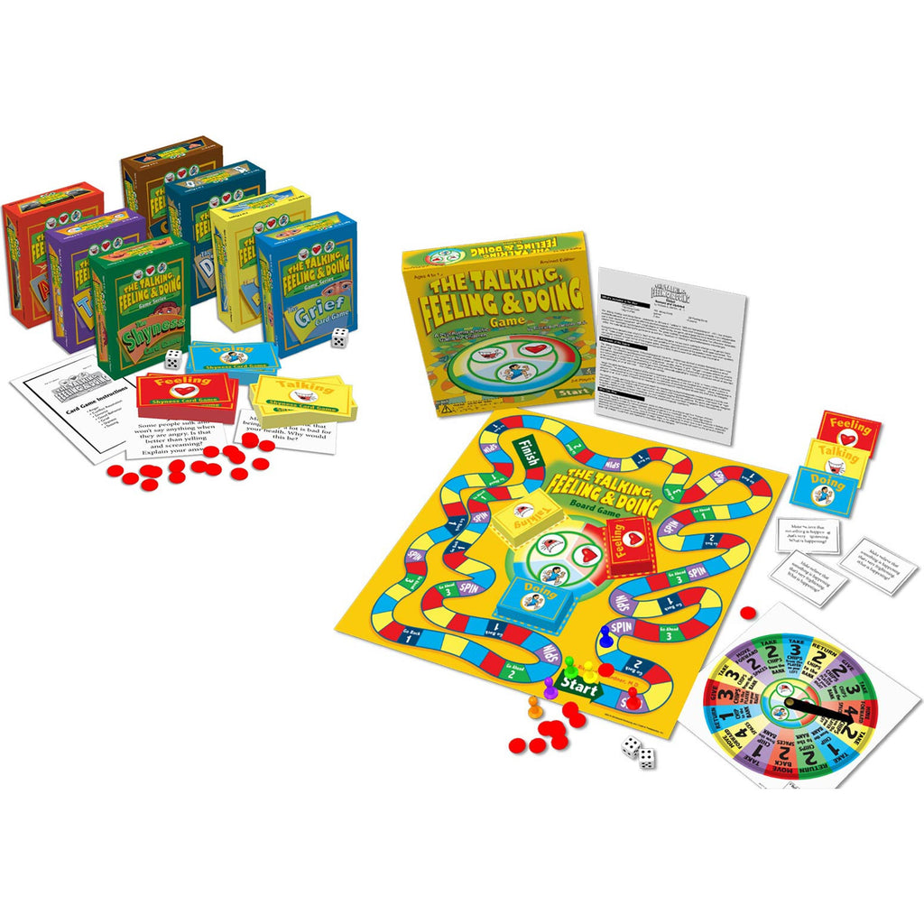 The Talking, Feeling, & Doing Game Package (Board Game & 7 Card Games)