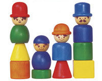 Thread Heads Wooden Block Family