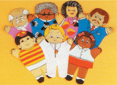 Three Generational Puppet Family Set (4 Multicultural Families/28 Puppets)