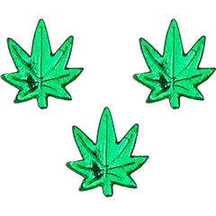 Mini Marijuana Leaves (Set of 3)