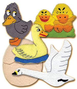 Ugly Duckling Finger Puppet Set (5 Finger Puppets)