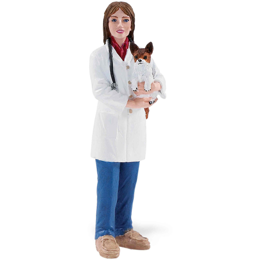 Miniature - Veterinarian with Dog