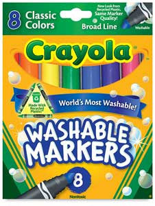Crayola 8-Color Classic Washable Markers