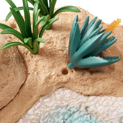 'The Watering Hole' Playset (With Rock Ledge, Burrow, Island, Plants & Animals)