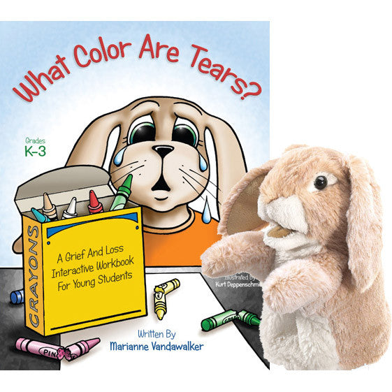 "What Color Are Tears? & ""Bitty Bunny"" (Book & Puppet Set)"