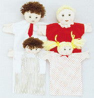 Machine-Washable Puppet Family (Caucasian)