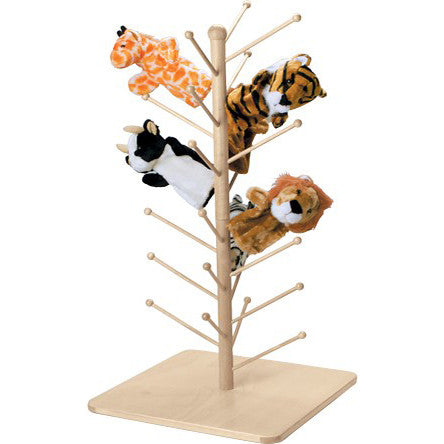 Wooden Puppet Tree (Holds 26 Puppets)