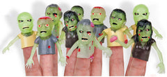 5 Zombie Finger Puppets/ Miniatures