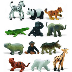 Miniature - Zoo Babies Set (12-Figures)