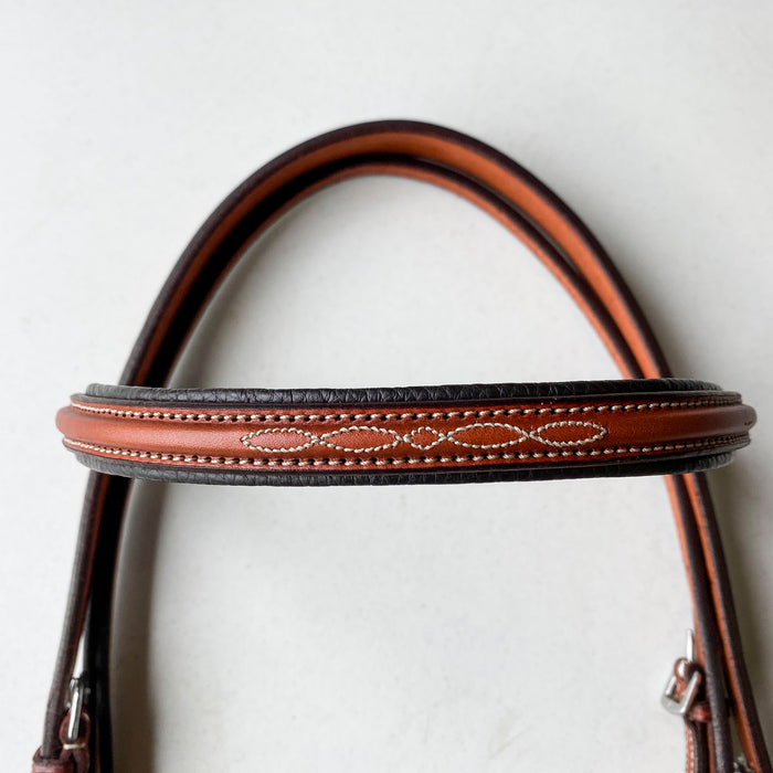 "Edgewood 5/8"" Fancy-stitched Raised Padded Bridle"