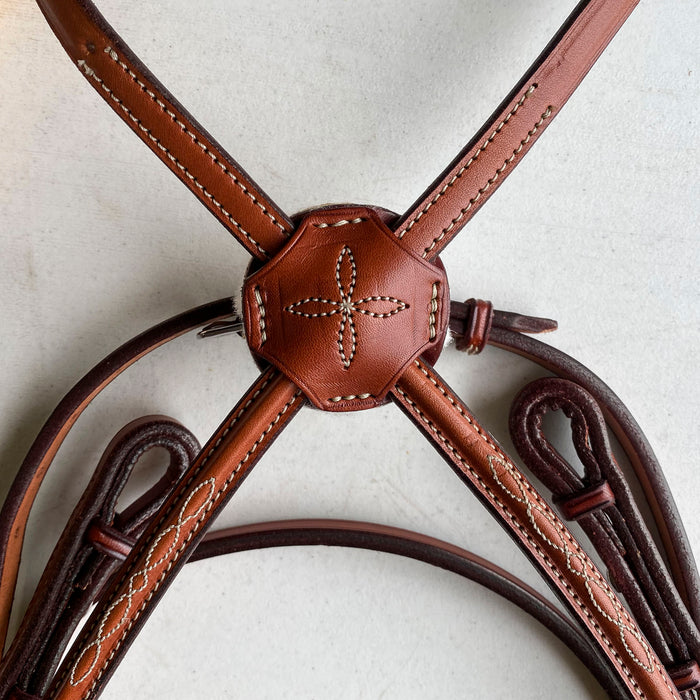 Edgewood Fancy-stitched Padded Figure 8 Bridle