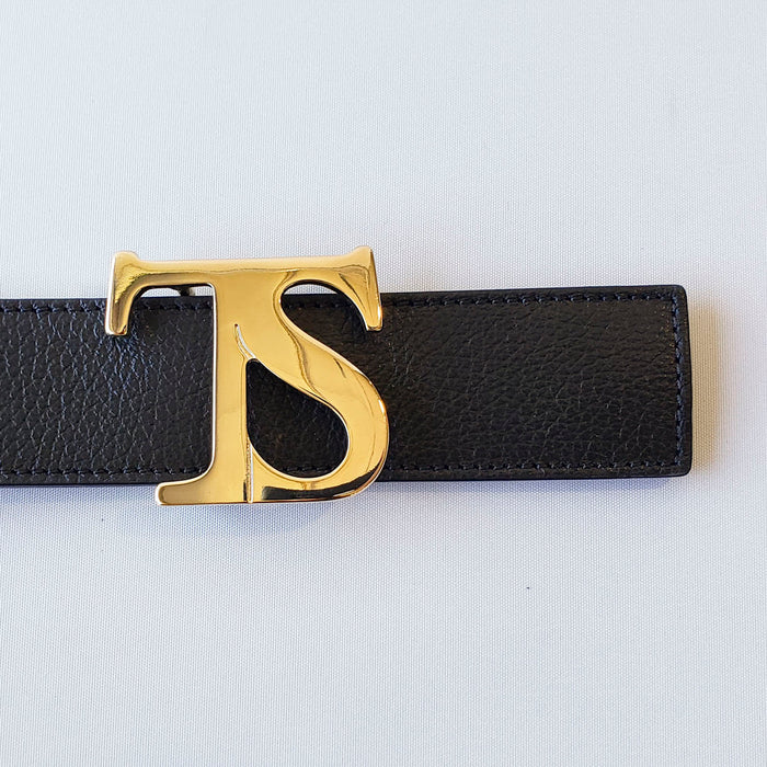 Tailored Sportsman Sporty Leather Logo Belt