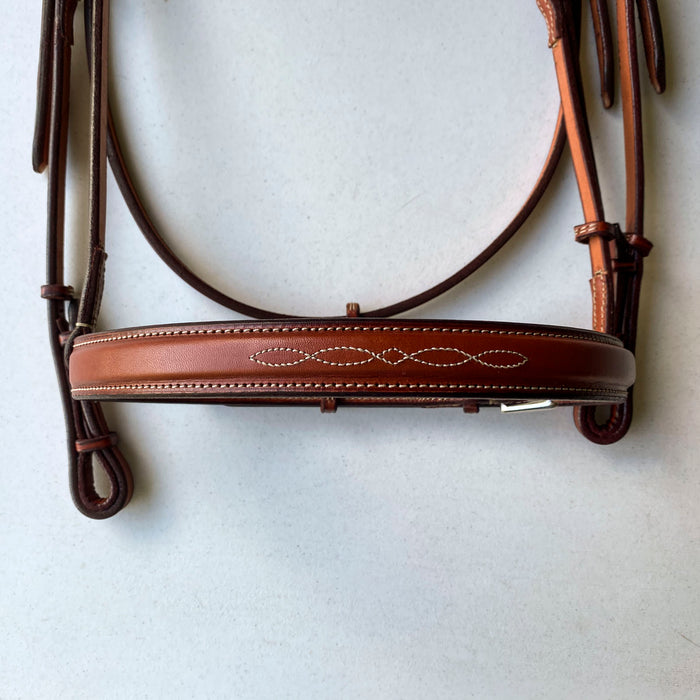 "Edgewood 1"" Fancy-stitched Raised Bridle"