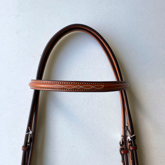 "Edgewood 5/8"" Fancy-stitched Raised Bridle"