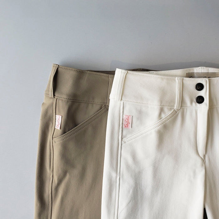 Tailored Sportsman Kids Trophy Hunter Front Zip Breech - Tan or White