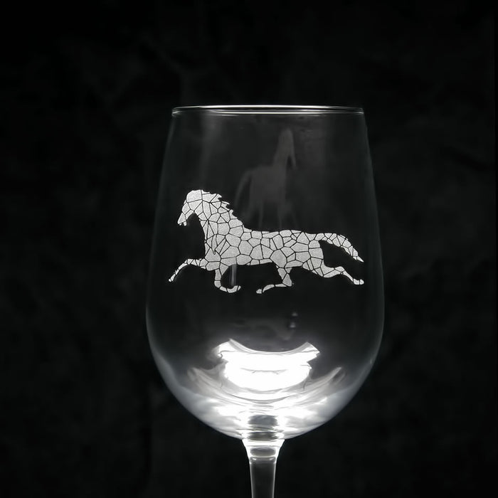 h | m engraved wine glass - t11V+~ set of 2