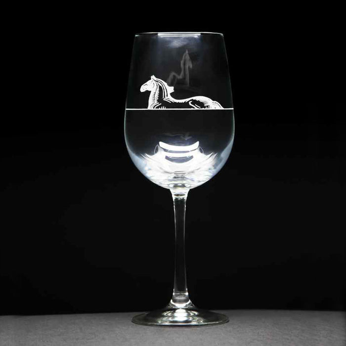 h | m engraved wine glass - eqlevel ~ set of 2