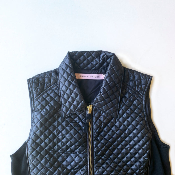 Hannah Childs Peggy Quilted Vest - Pitch Black