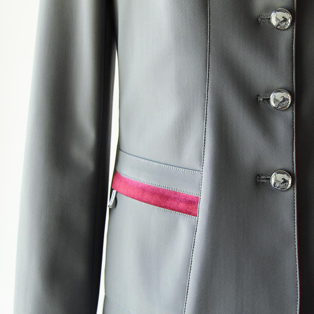 sarm hippique verbania show coat grey/burgundy