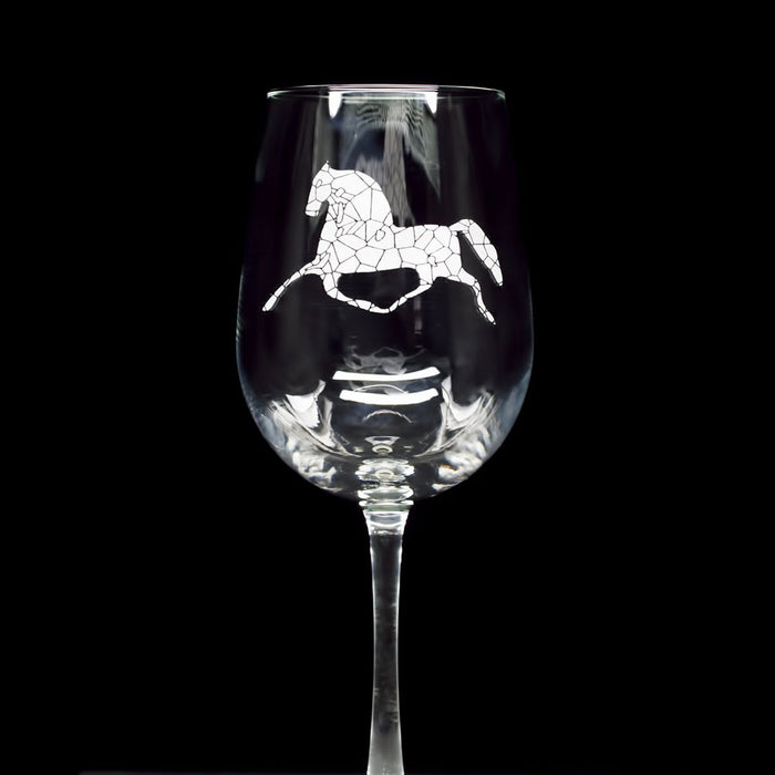 h | m engraved wine glass - t3A ~ set of 2