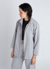 Eucalyptus Front Zip Collar Jacket - Light Grey