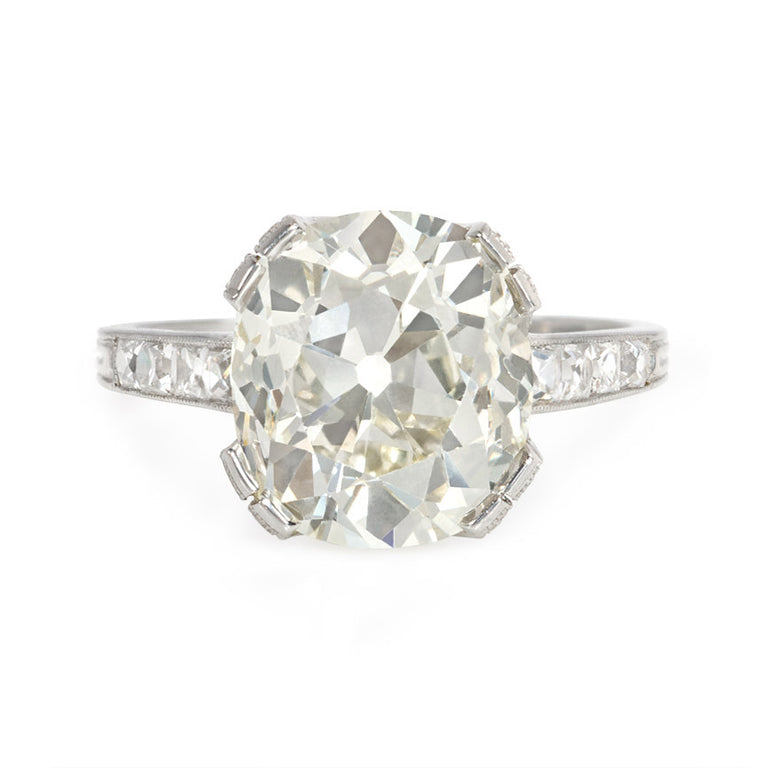 cae2e24cd08a Edwardian cushion-cut engagement ring