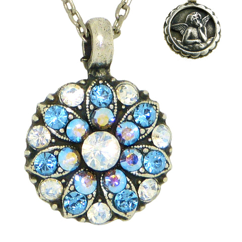 Mariana Guardian Angel Crystal Pendant Necklace 141 Aqua AB Clear