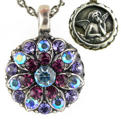 Mariana Guardian Angel Crystal Pendant Necklace 153 Amethyst Blue