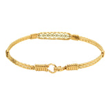 Ronaldo Power of Prayer 188 Bracelet 14K Gold Artist Wire with 7 Silver Beads