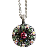Mariana Guardian Angel Crystal Pendant Necklace 2229 Pink Green AB