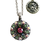 Mariana Guardian Angel Crystal Pendant Necklace 2229 Pink Green AB - ILoveThatGift