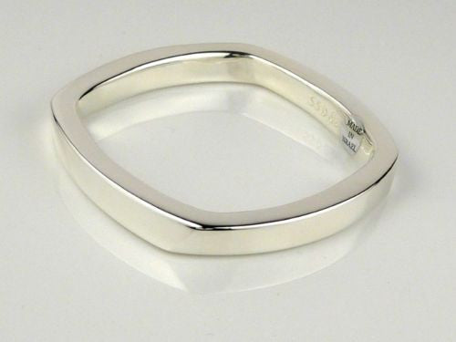 Simon Sebbag Rounded Square Sterling Silver 925 Bangle Bracelet B1237 - ILoveThatGift