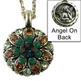 Mariana Guardian Angel Crystal Pendant Silver Necklace 4601 Blue Opal Topaz - ILoveThatGift