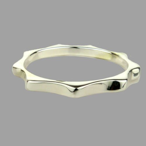 Simon Sebbag 9 Corner Sterling Silver 925 Bangle Bracelet B1330 - ILoveThatGift