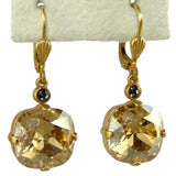 La Vie Parisienne Earrings Swarovski Crystal Popesco 6556G Champagne - ILoveThatGift